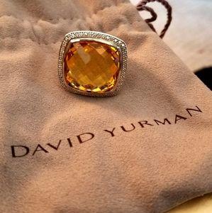 David Yurman Albion Citrine Cable Ring
